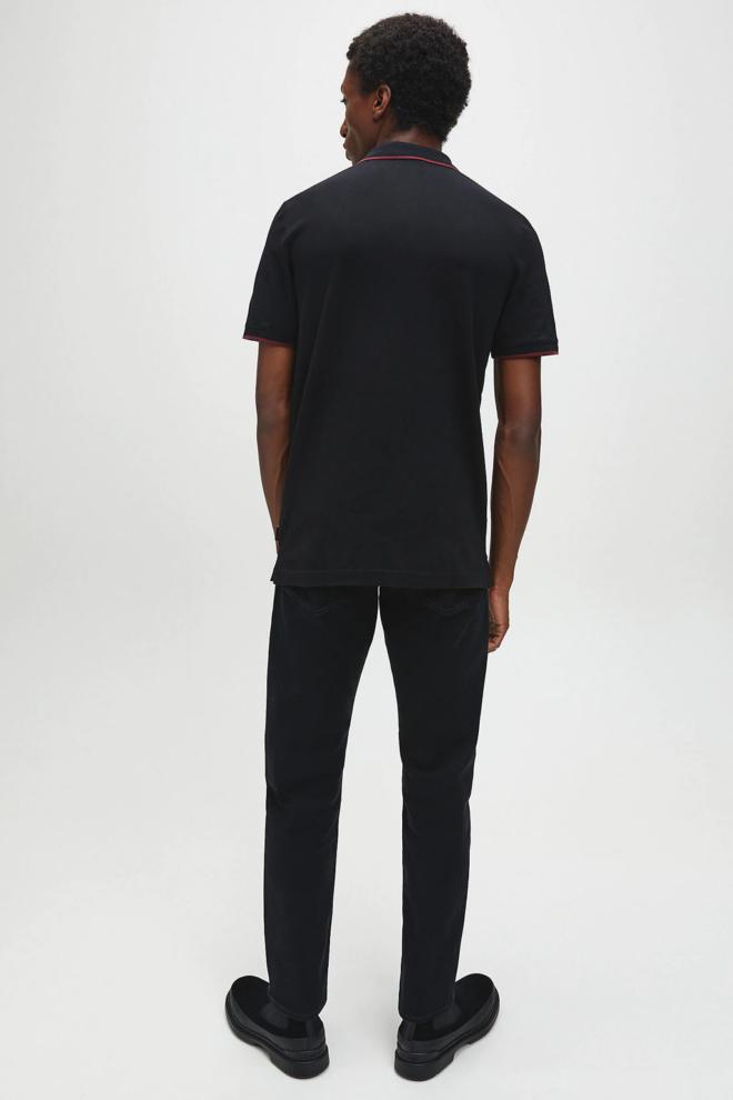 Calvin klein slim stretch polo zwart - Calvin Klein
