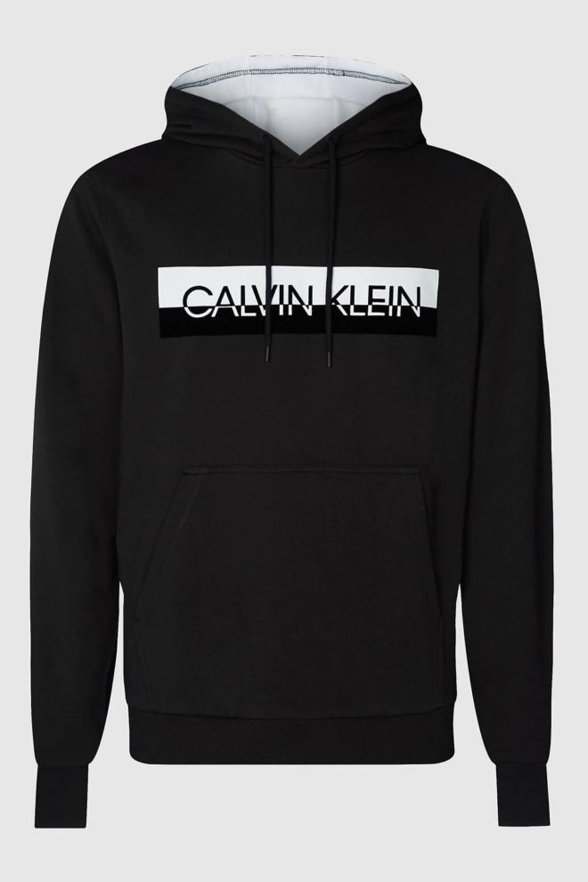 Calvin klein split logo hoodie zwart - Calvin Klein