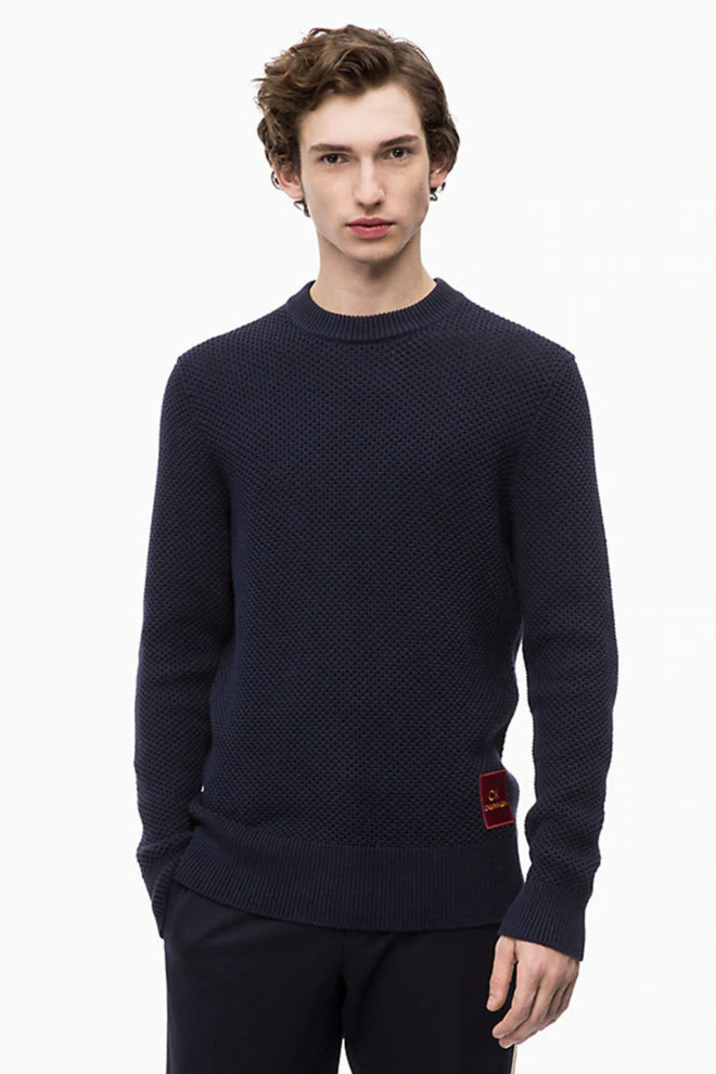 Calvin klein structured cotton knit sky captain - Calvin Klein