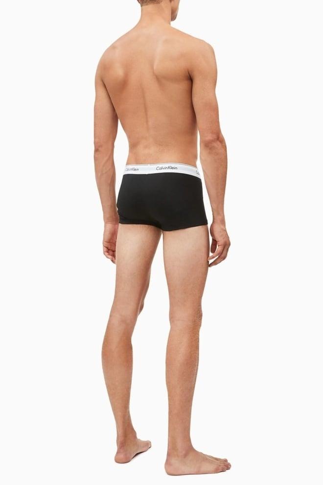 Calvin klein 2-pack lage boxers zwart/grijs