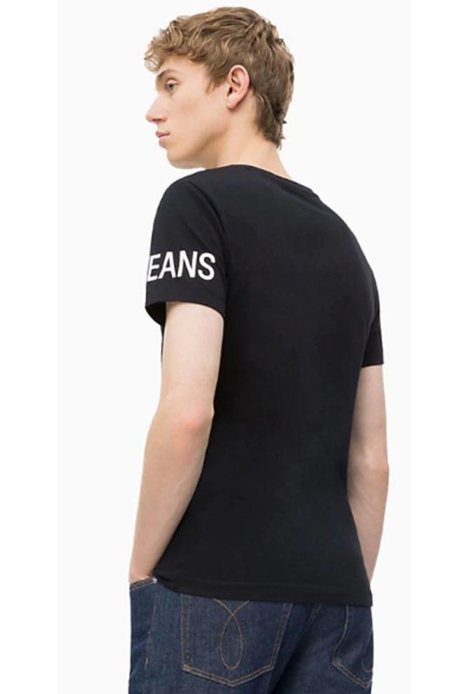 Calvin klein instit logo shirt zwart - Calvin Klein