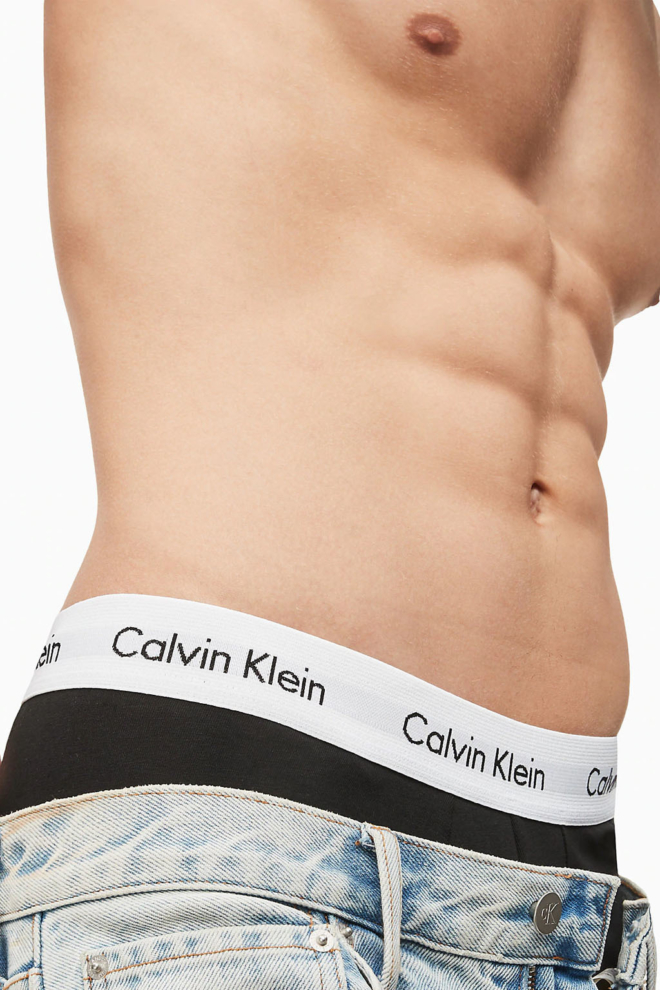 Calvin klein 3-pack lage boxers zwart