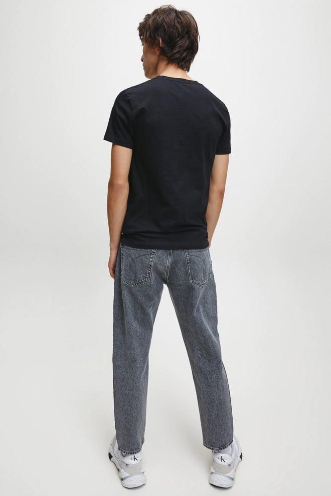 Calvin klein monogram logo t-shirt zwart - Calvin Klein
