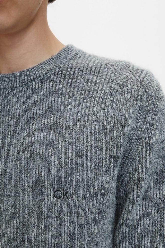 Calvin klein plush structure sweater grijs - Calvin Klein