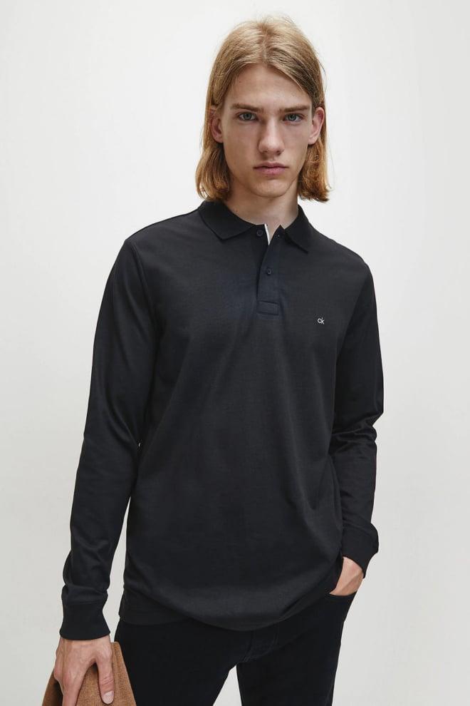 Calvin klein polo lange mouw zwart - Calvin Klein