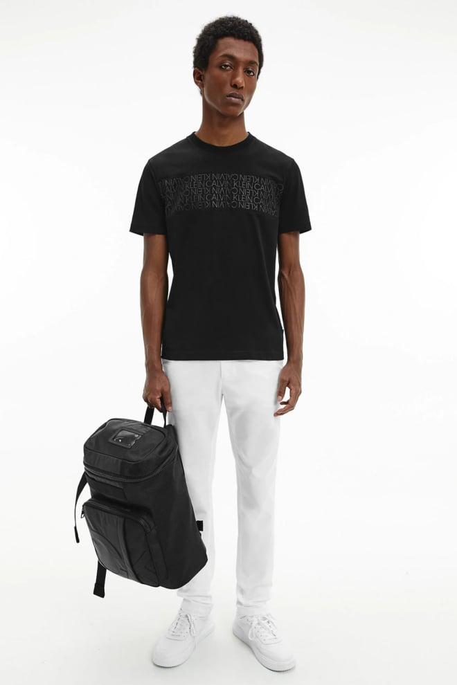 Calvin klein logo t-shirt zwart - Calvin Klein