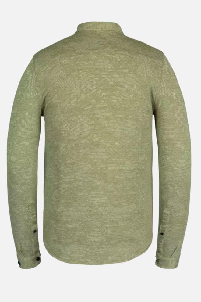 Cast iron pique jacquard overhemd groen - Cast Iron