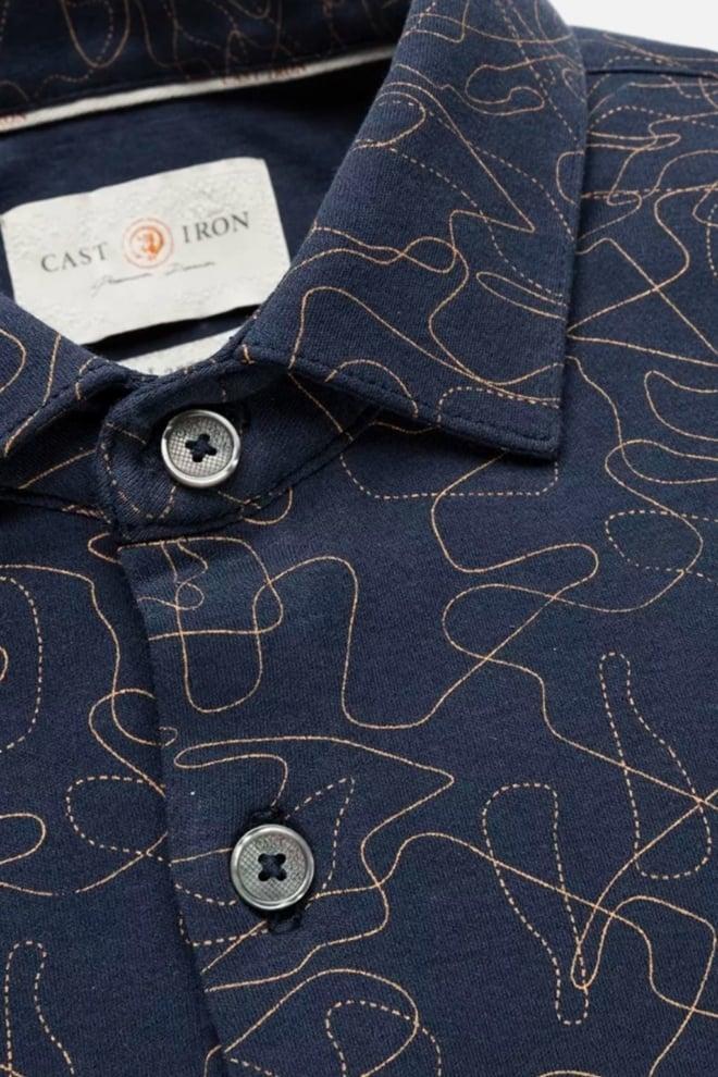 Cast iron line circuit overhemd donkerblauw - Cast Iron