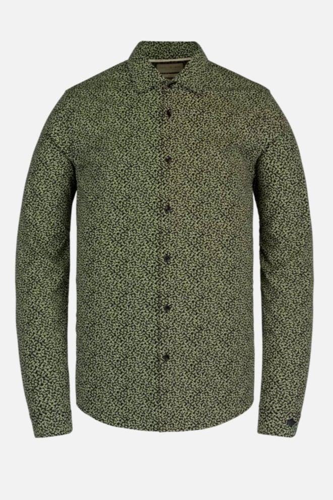 Cast iron poplin overhemd groen geprint - Cast Iron
