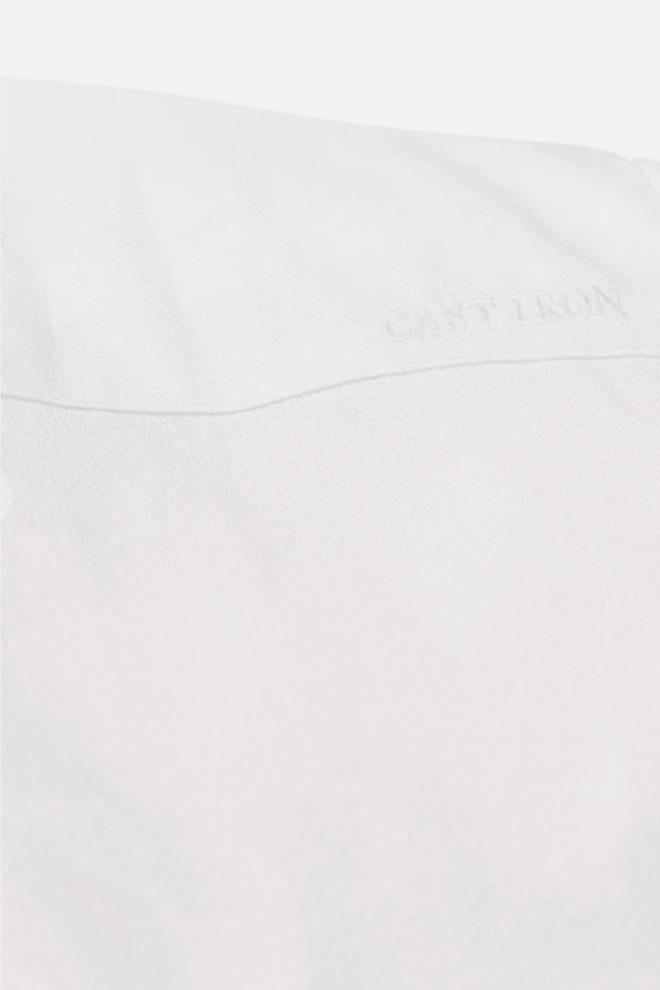 Cast iron linnen dobby overhemd wit - Cast Iron