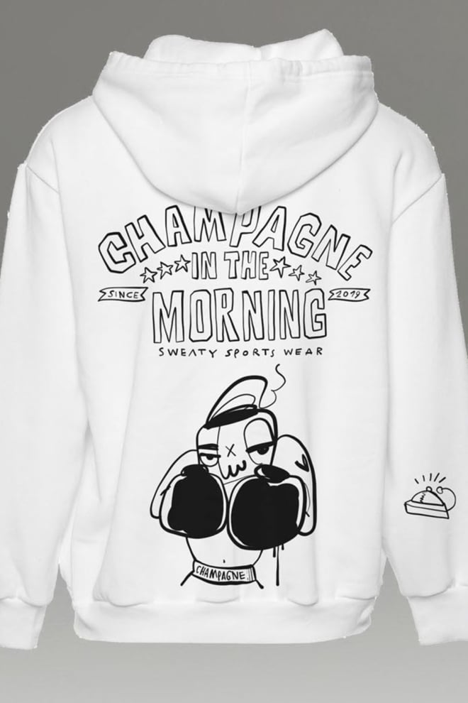 Champagne in the morning hoodie heavy love - Champagne In The Morning