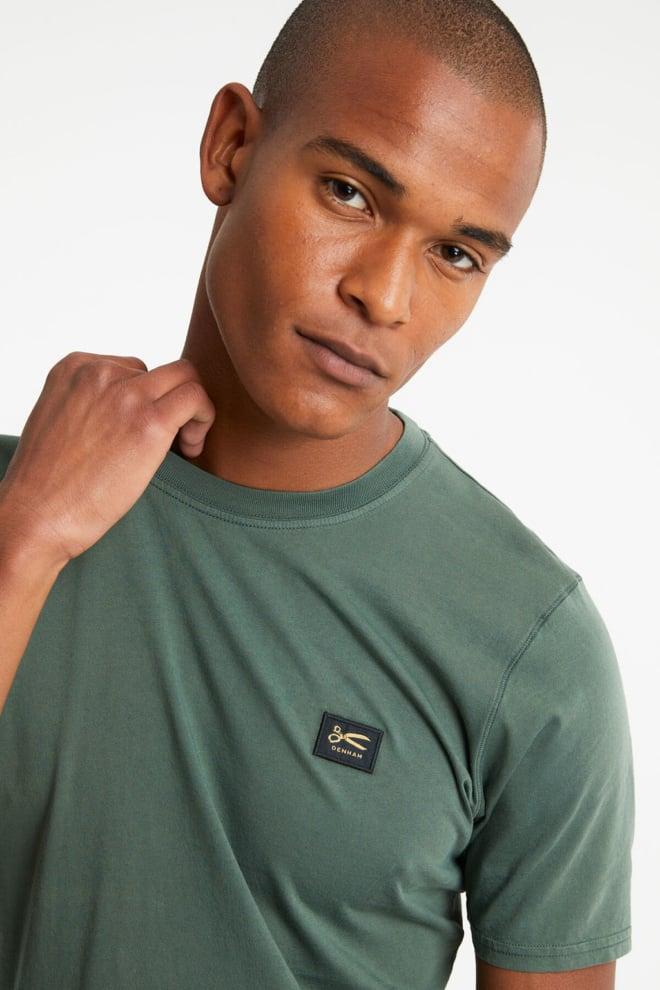 Denham applique t-shirt groen - Denham