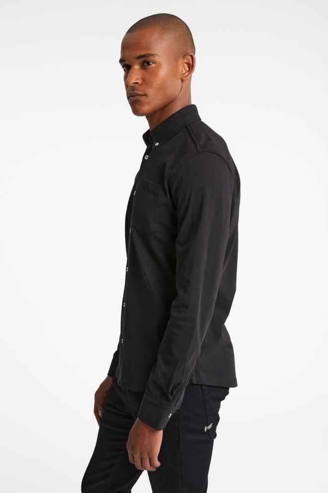 Denham bridge overhemd zwart - Denham