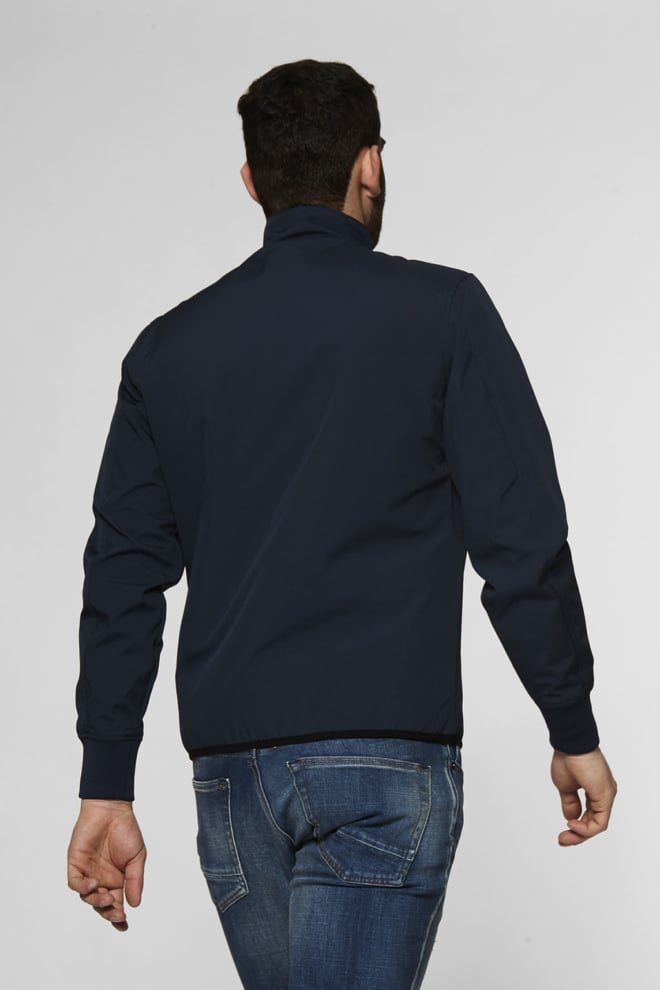 Denham steel soft shell lss jas donkerblauw - Denham