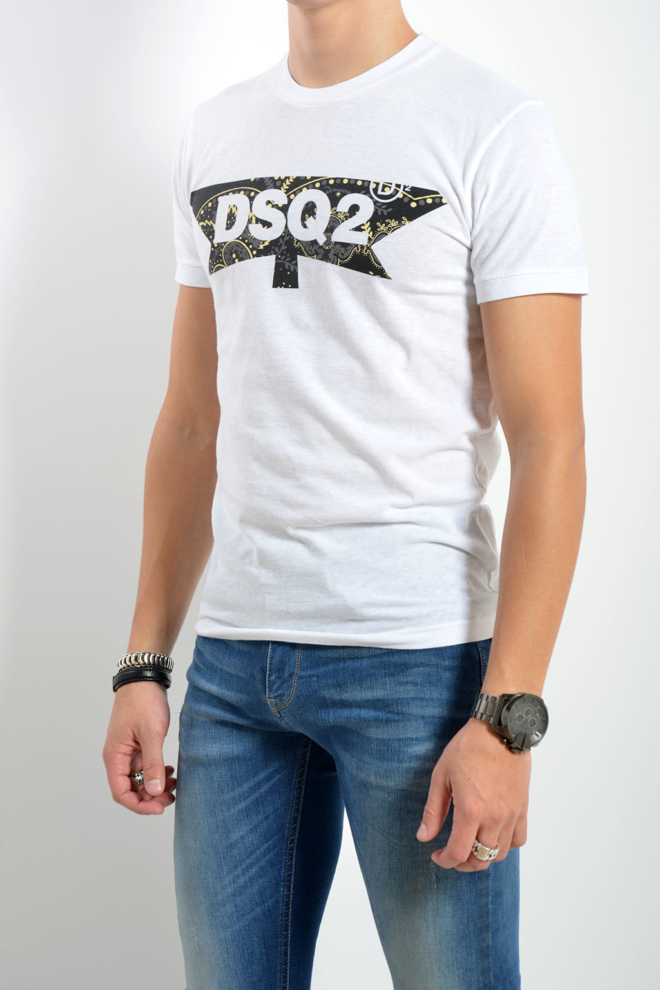Dsquared2 chic dan fit t-shirt wit - Dsquared