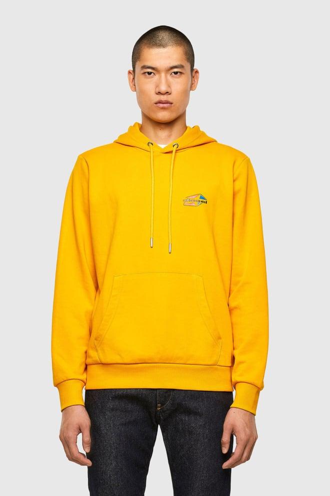 Diesel s-girk-hood-k22 hoodie geel - Diesel