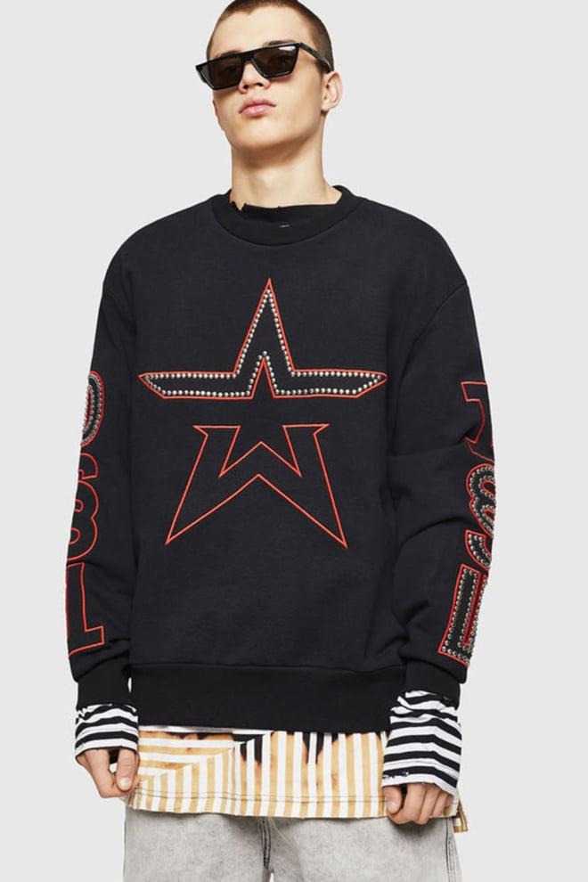 Diesel s-bay-studs sweater zwart - Diesel