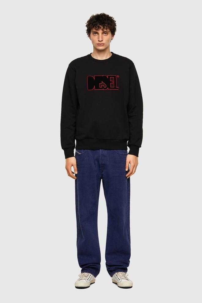 Diesel s-girk-b6 sweater zwart - Diesel