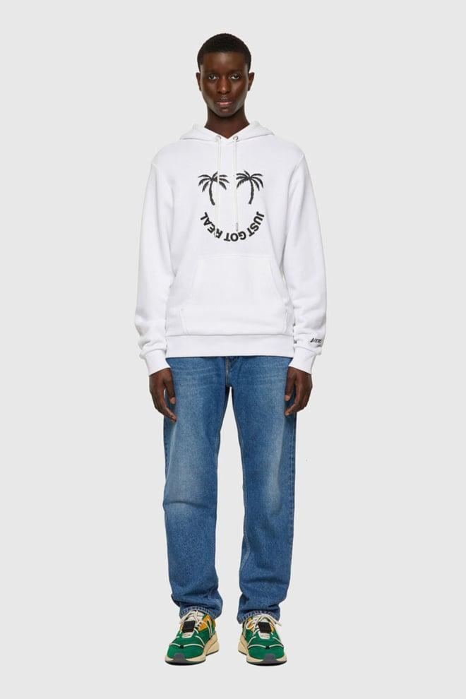 Diesel s-girk-hood-b1 sweater wit - Diesel