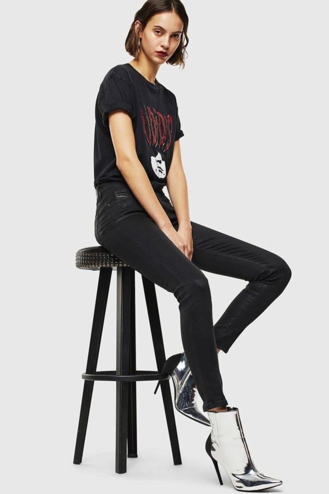 Diesel slandy 069jt dames jeans zwart - Diesel