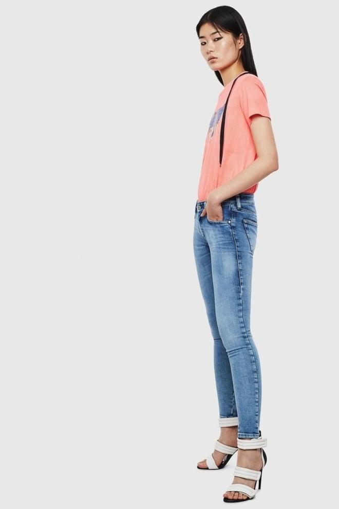 Diesel slandy 0095p dames jeans blauw - Diesel