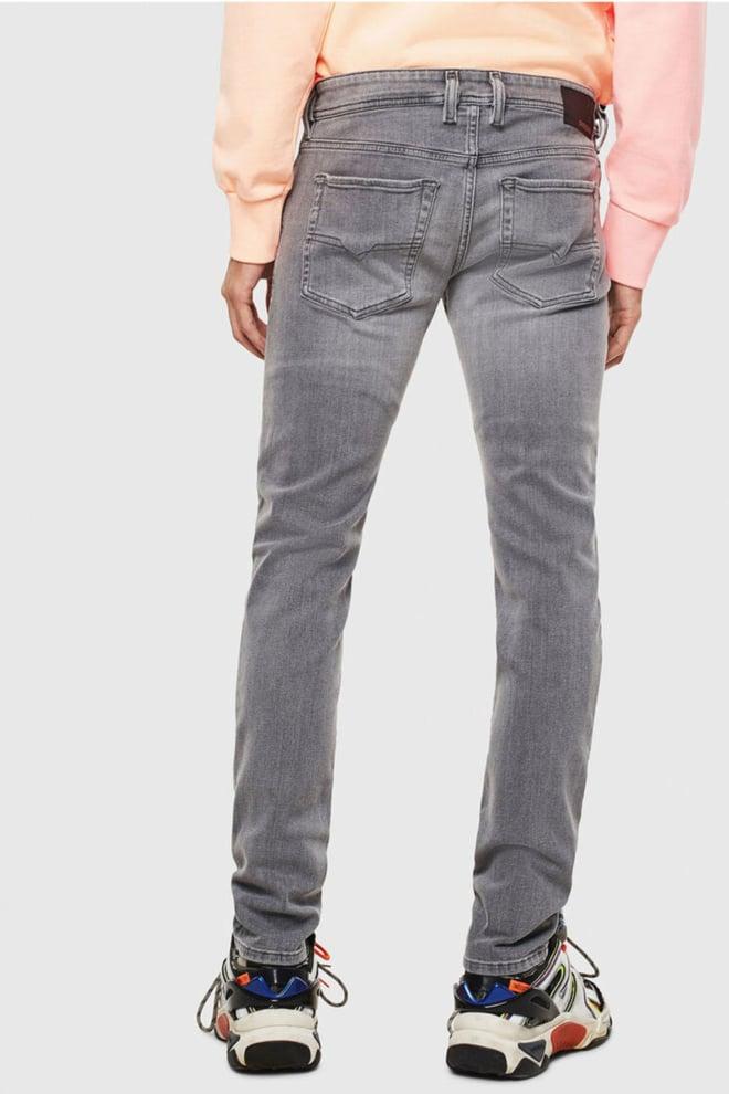 Diesel sleenker-x 0095e jeans lichtgrijs - Diesel