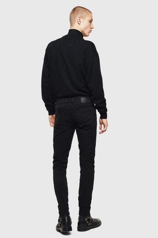 Diesel sleenker 069ei heren jeans zwart - Diesel