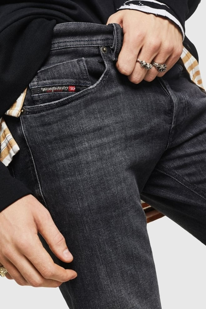 Diesel sleenker 084at jeans donkergrijs - Diesel