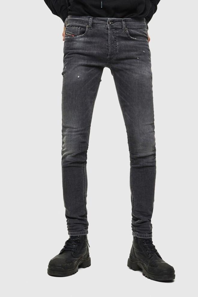 Diesel sleenker-x jeans donkergrijs - Diesel