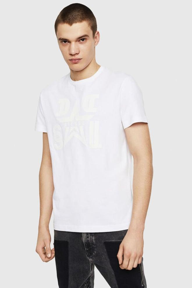 Diesel t-diego-a8 t-shirt wit - Diesel