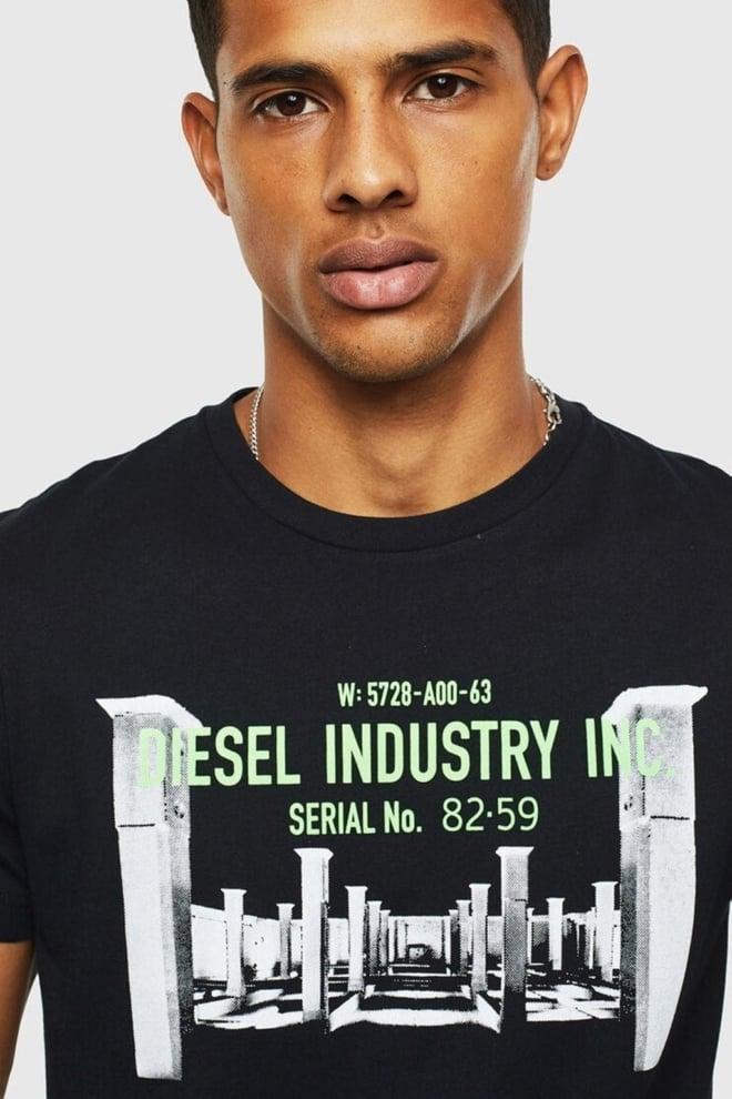 Diesel t-diego-s13 t-shirt zwart - Diesel