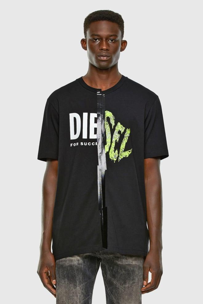 Diesel t-jubble-x2 t-shirt zwart - Diesel