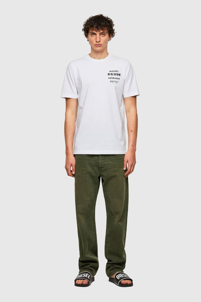 Diesel t-just-b59 t-shirt wit - Diesel