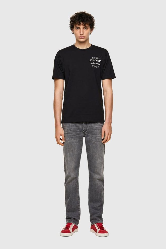 Diesel t-just-b59 t-shirt zwart - Diesel