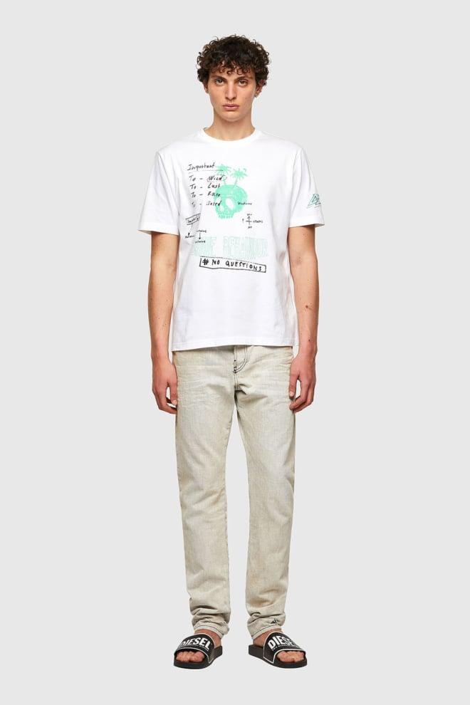 Diesel t-just-b61 t-shirt wit - Diesel