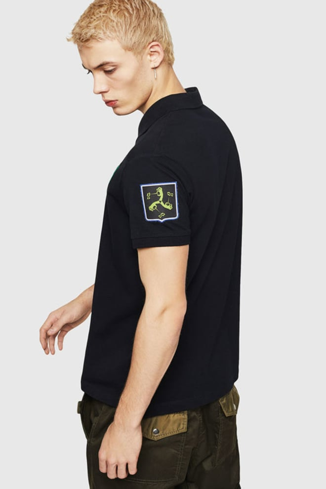 Diesel t-polo-patches polo zwart - Diesel