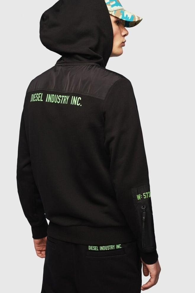 Diesel s-diex felpa vest zwart - Diesel