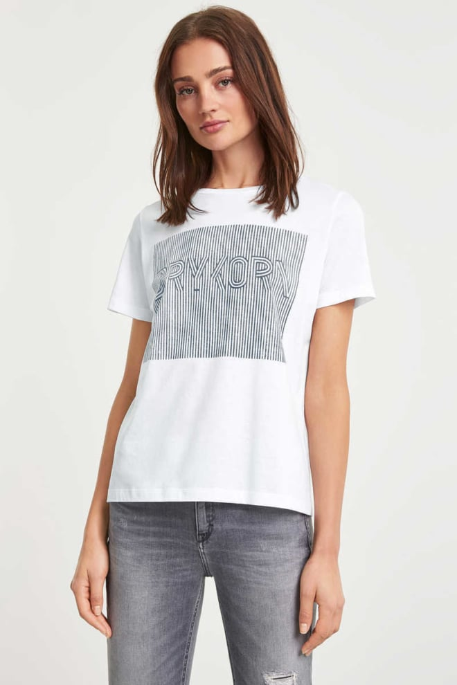 Drykorn anisia p16 t-shirt wit - Drykorn