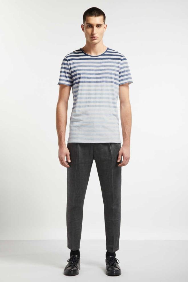 Drykorn kendrick strepen shirt blauw/wit - Drykorn