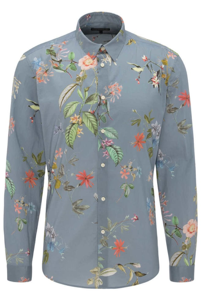 Drykorn ruben overhemd blauw - Drykorn