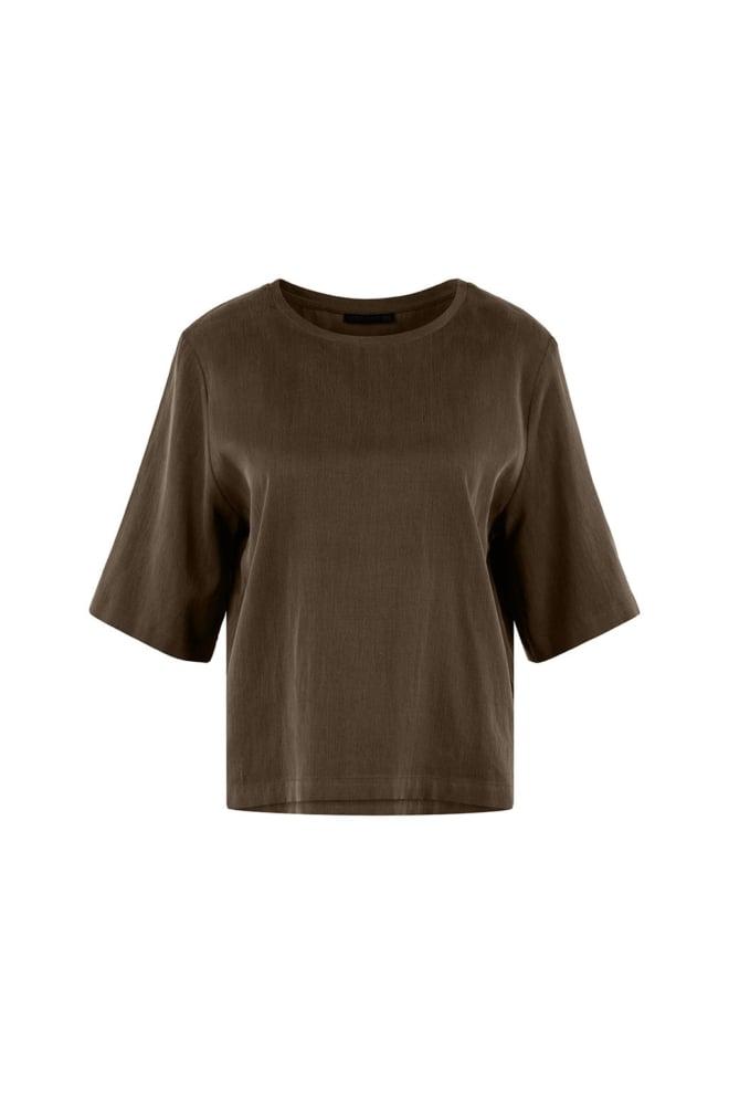 Drykorn diedra t-shirt groen - Drykorn