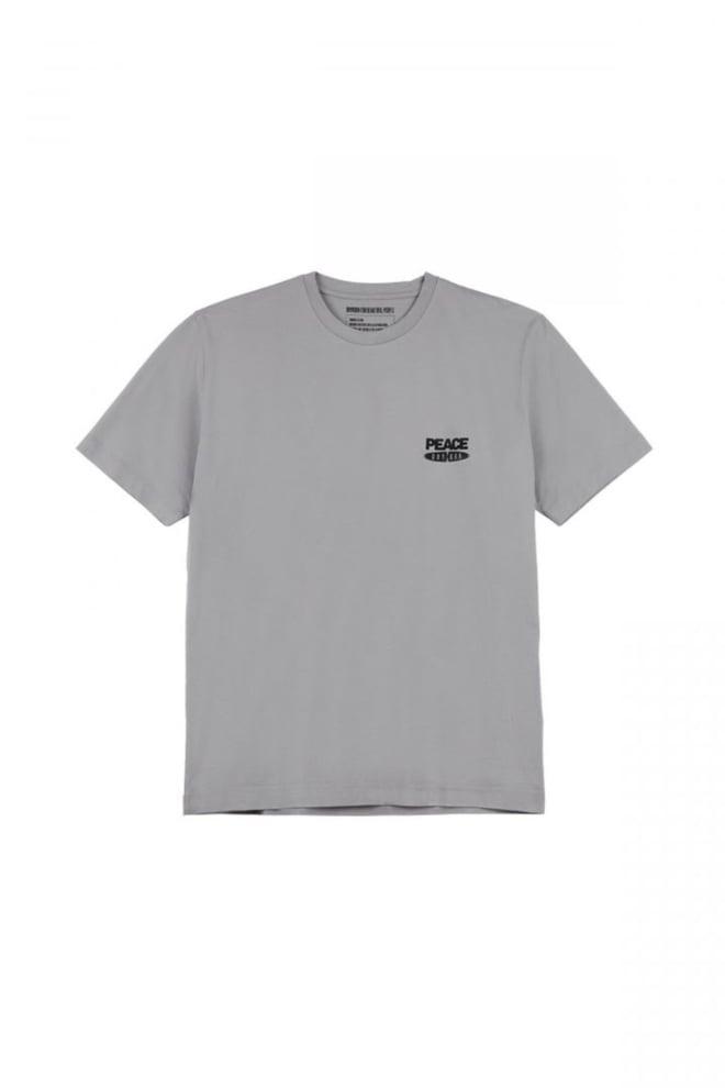 Drykorn eddy peace t-shirt grijs - Drykorn