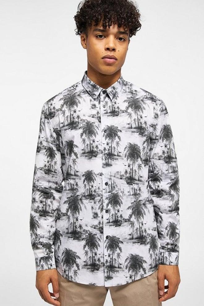 Drykorn ruben overhemd zwart/wit - Drykorn