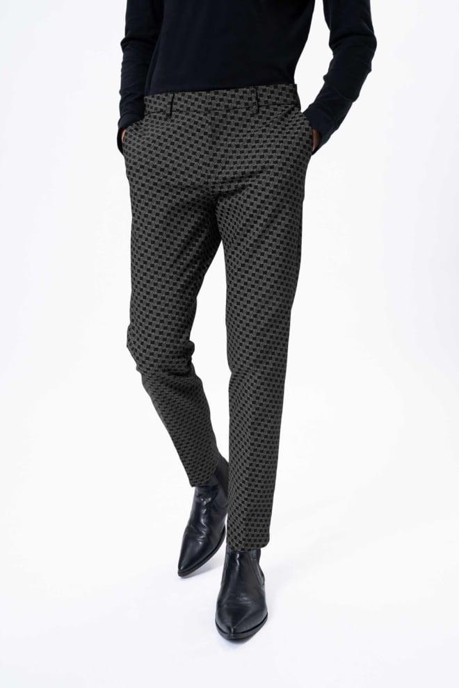 Drykorn sight pantalon grijs met print - Drykorn