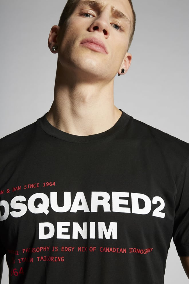 Dsquared2 logo t-shirt zwart - Dsquared