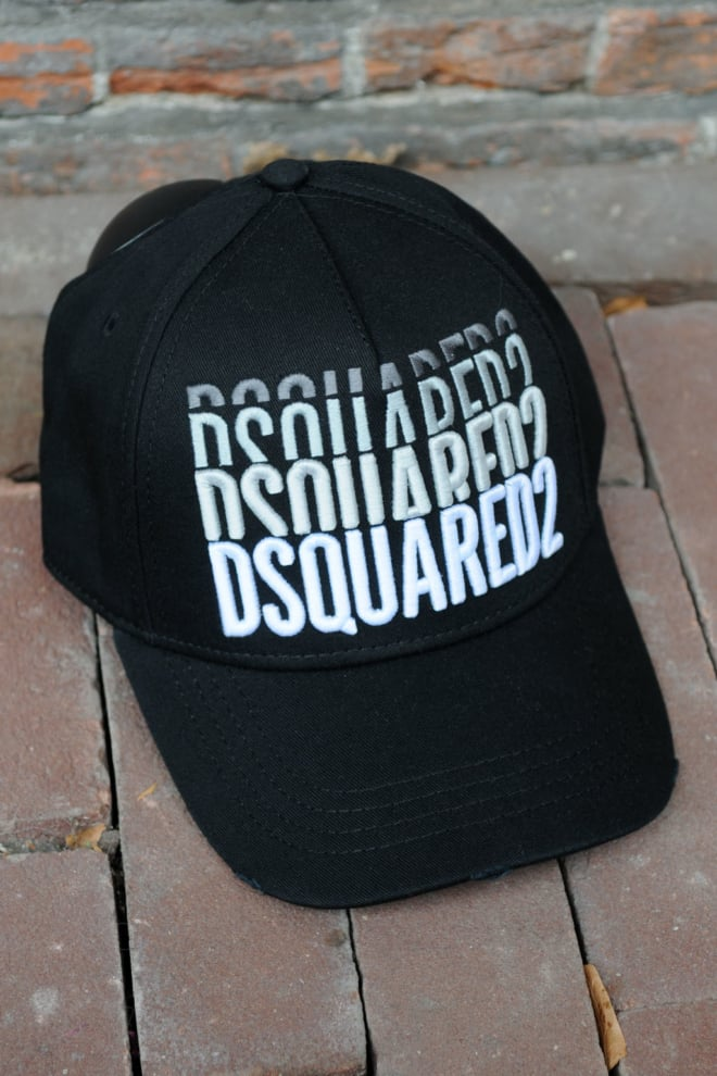 Dsquared2 cargo baseball garbadine nero cap - Dsquared