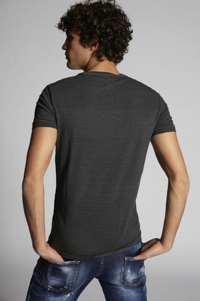 Dsquared2 print t-shirt donkergrijs - Dsquared