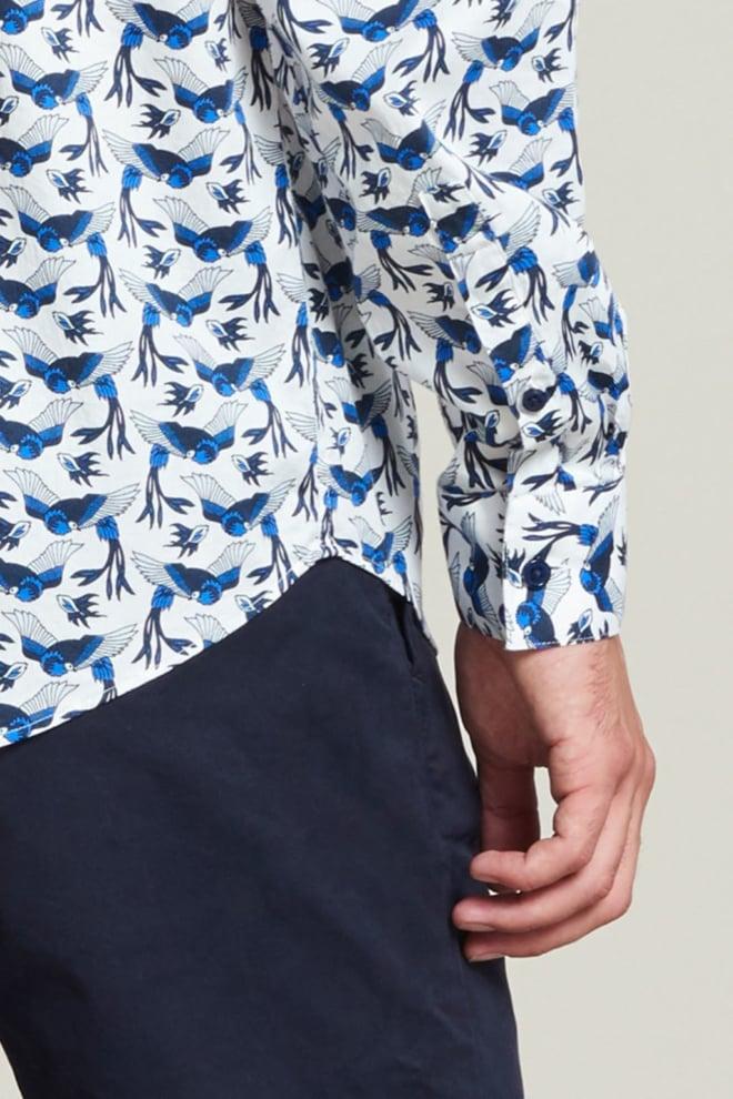 Dstrezzed birds overhemd wit - Dstrezzed