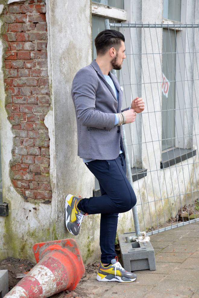 Dstrezzed jogger stretch pique broek blauw - Dstrezzed