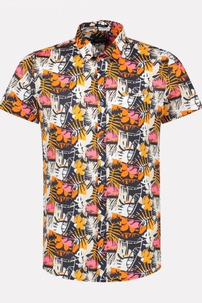 Dstrezzed abstrace leaves poplin overhemd - Dstrezzed